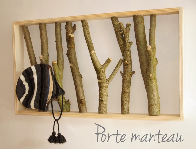 porte manteau avec des branches d arbres pour votre quotidien. Black Bedroom Furniture Sets. Home Design Ideas
